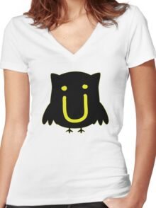 JACK U THE OWL Women's Fitted V-Neck T-Shirt
