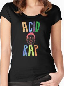 ACID RAD FEEL THE RAP Women's Fitted Scoop T-Shirt