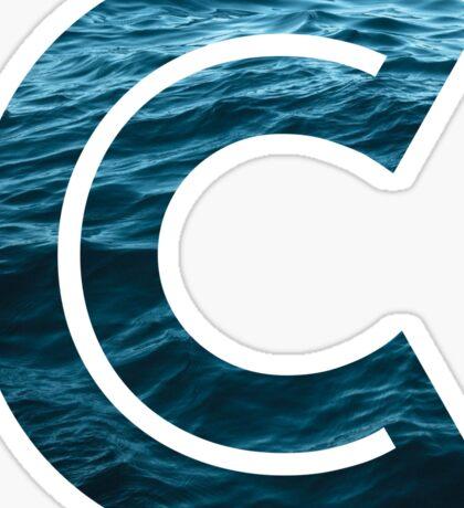 """The Letter """"C"""" Ocean Sticker"""