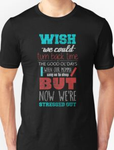 Twenty One Pilots - Stressed Out Black T-Shirt