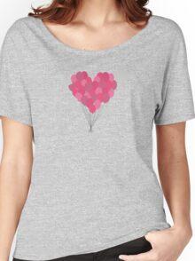 Balloons arranged as heart  Women's Relaxed Fit T-Shirt