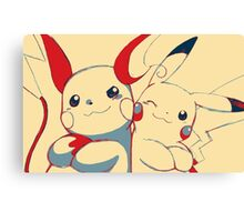 Raichu and Pikachu Canvas Print