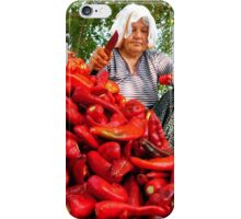 Turkish Woman Preparing Red Peppers for Biber Salçası iPhone Case/Skin