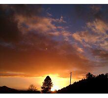 """Flourescent Sunset"" Photographic Print"