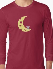 mouse on the cheese moon  Long Sleeve T-Shirt