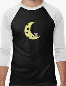 mouse on the cheese moon  Men's Baseball ¾ T-Shirt