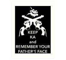 Keep KA - white edition Art Print