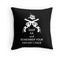 Keep KA - white edition Throw Pillow