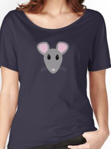 sweet gray mouse face  Women's Relaxed Fit T-Shirt