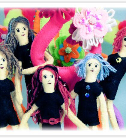 Fantasy Felt Doll Play Land Sticker