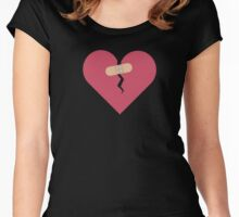 broken heart healed by patch  Women's Fitted Scoop T-Shirt