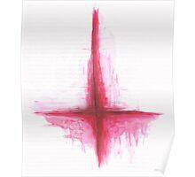 Inverted Cross - St Peter's Cross Poster