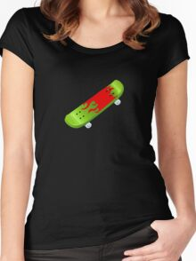 skateboard Women's Fitted Scoop T-Shirt