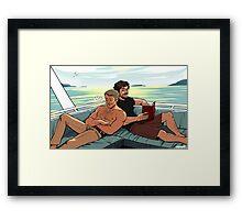 hannigram + boat Framed Print