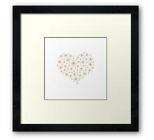 Heart of white flowers  Framed Print