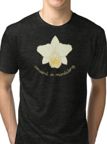 Consent is Mandatory - Yellow Orchid Tri-blend T-Shirt