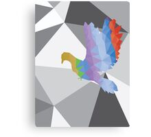 Colorful Polygonal Pigeon 4 Canvas Print