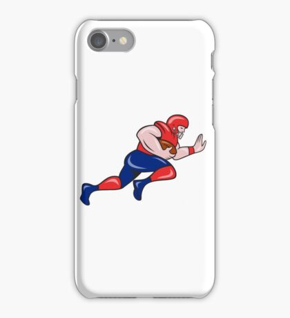 American Football Running Back Charging Cartoon iPhone Case/Skin