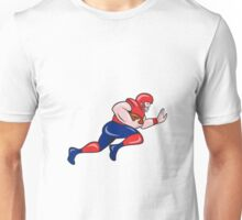 American Football Running Back Charging Cartoon Unisex T-Shirt