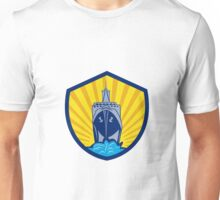Passenger Ship Cargo Boat Crest Cartoon Unisex T-Shirt