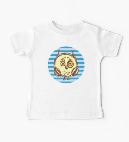 Funny owl blue and brown Baby Tee