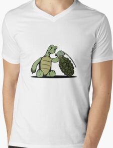 Turtle and Bombs Mens V-Neck T-Shirt