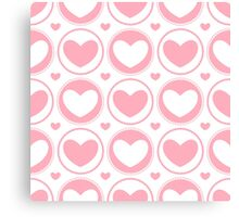 Seamless background of hearts Canvas Print