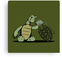 Turtle and Bombs Canvas Print