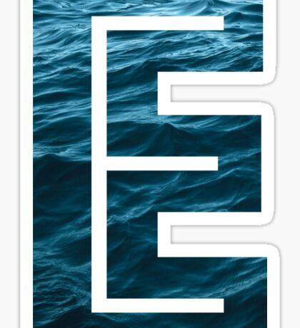 """The Letter """"E"""" Ocean Sticker"""