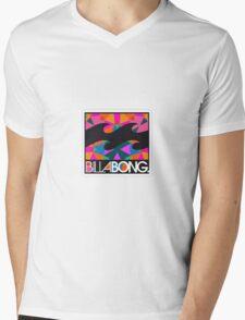Billabong Colourful Mens V-Neck T-Shirt