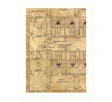 Marauder's Map, Footsteps Art Print