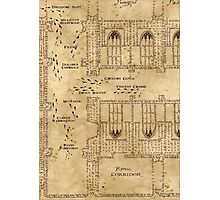 Marauder's Map, Footsteps Photographic Print