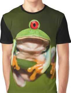 Funny Cyclopic Frog Graphic T-Shirt