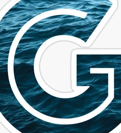 """The Letter """"G"""" Ocean Sticker"""