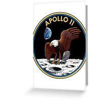 Apollo 11 Mission Patch Greeting Card