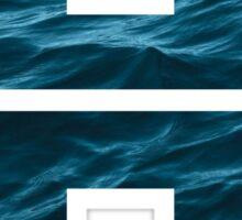 """The Letter """"H"""" Ocean Sticker"""