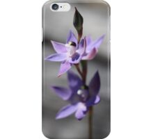 Thelymitra in Blue iPhone Case/Skin