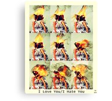 Love You/Hate You Canvas Print