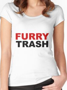 Furry TRASH Women's Fitted Scoop T-Shirt