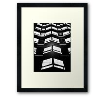 AB157 1960,s Contemporary Architecture Framed Print