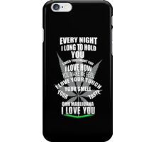 I love Marijuana iPhone Case/Skin