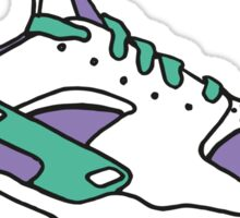 Huarache Sneakers Blue Green Violet Sticker