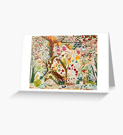 Jacobean Fantasy Forest Greeting Card