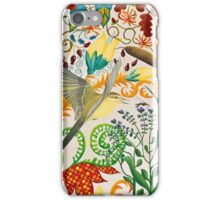 Yellow Wagtail and Mosquito iPhone Case/Skin