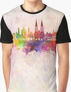 Vienna V2 skyline in watercolor background Graphic T-Shirt