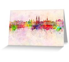 Vienna V2 skyline in watercolor background Greeting Card