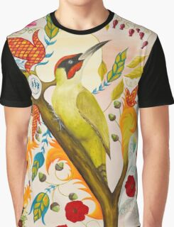 Green Woodpecker Graphic T-Shirt
