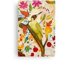 Green Woodpecker Canvas Print