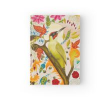 Green Woodpecker Hardcover Journal