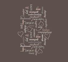 Pastel words of love Womens Fitted T-Shirt